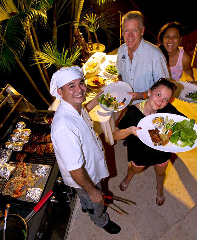 BBQ nights at our Panama resort.