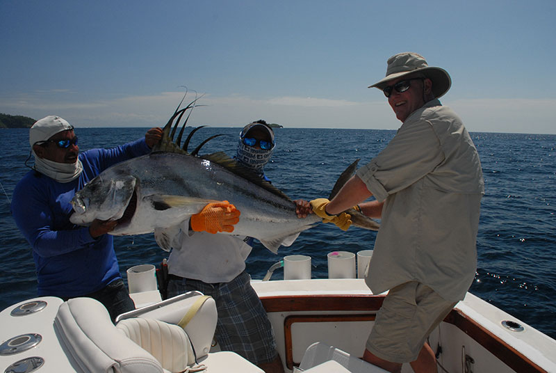 Record-sized roosterfish caught in Panama.