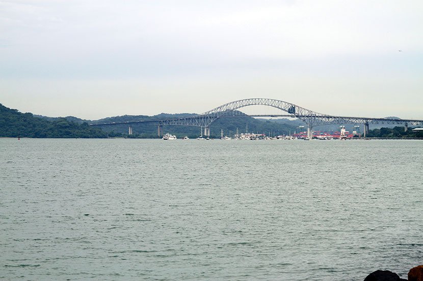 The Bridge of the Americas in Panama.