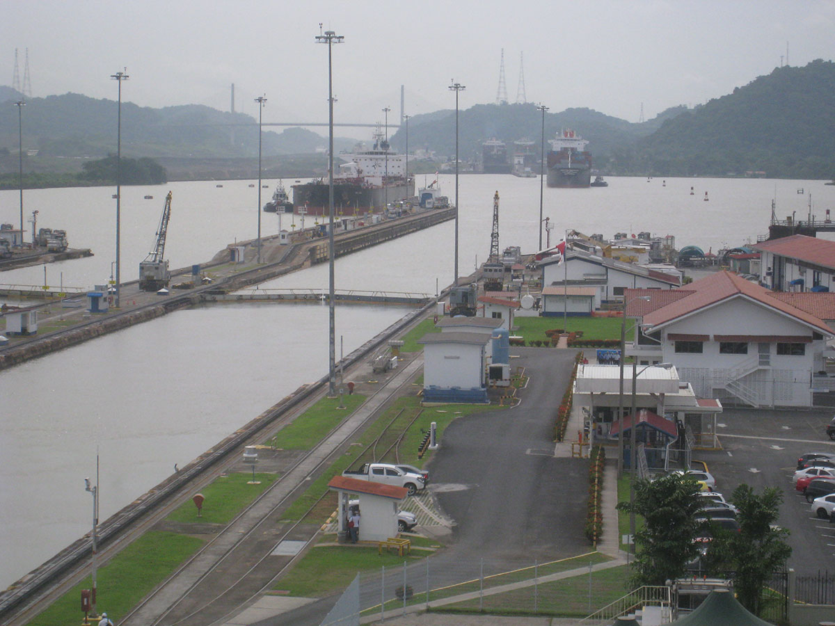 View over Panama Canal