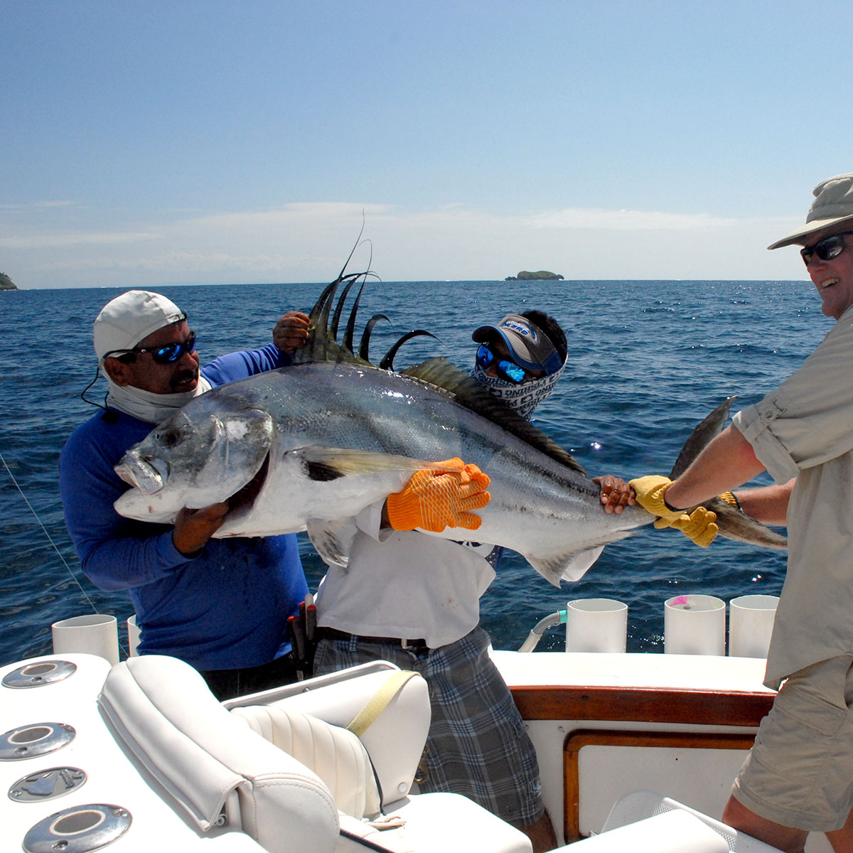 Roosterfish caught on our big game fishing boat.